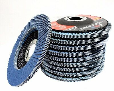 10 Pcs Premium Zirconia Flap Disc Sanding Grinding 4-12 X 78 60 Grit T27