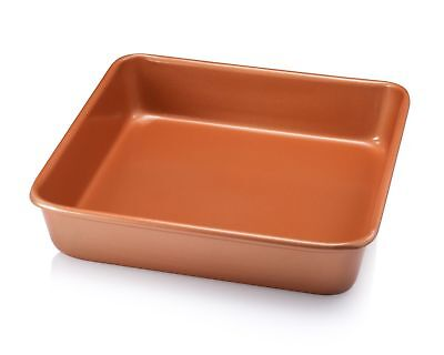 "Gotham Steel Bakeware - Nonstick Copper Square Baking Tin - 9.5"" x 9.5"" - NEW!"