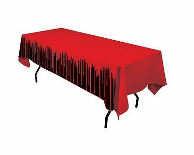 Halloween Bloody Table Cover Plastic Cloth Spooky Party Decoration Horror](Spooky Halloween Party Decorations)
