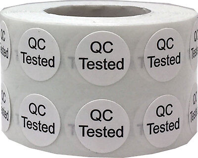 Quality Control Qc Tested Stickers 12 Inch Round 1000 Labels On A Roll
