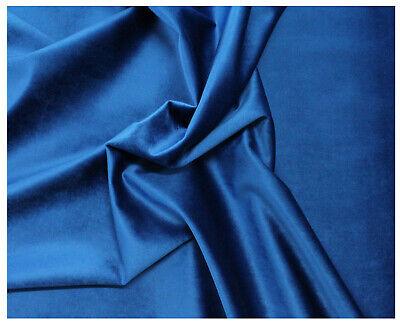 Tessuto Velluto Metraggio Tappezzeria Rivestimenti Blu Elettrico China 50x280cm