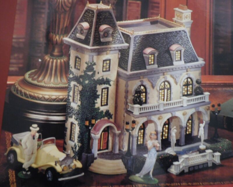 """Dept 56 - Christmas In The City - """"THE GREAT GATSBY WEST EGG MANSION"""" New"""