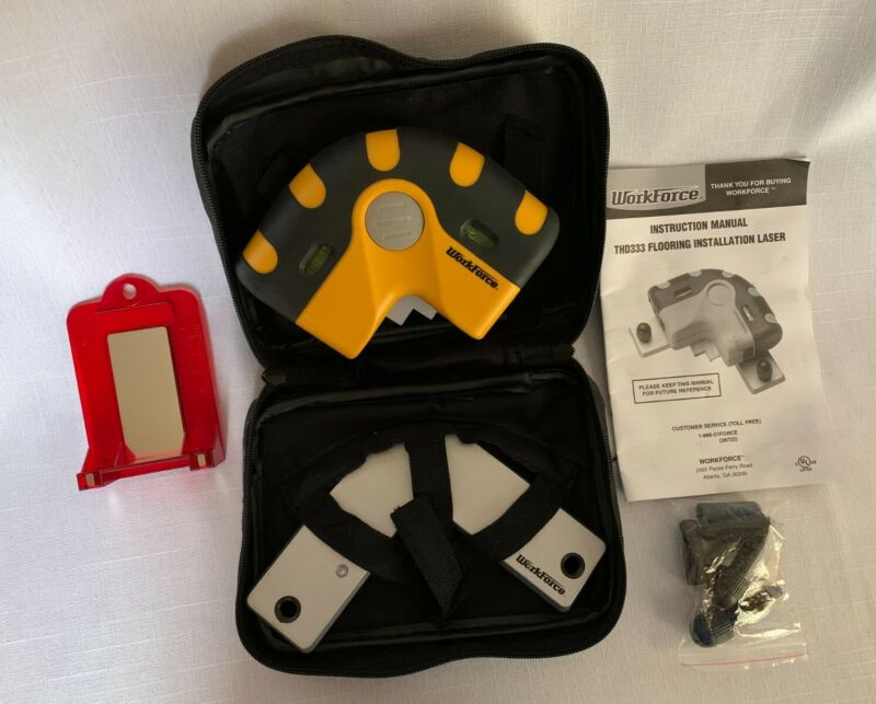 Workforce Laser THD333 Flooring and Tile Installation- Instructions & Carry Case