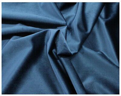 Tessuto Velluto a Metraggio Tappezzeria Rivestimenti Blu Tampone Avion 50x280cm