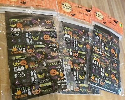 Halloween Trick Treat Candy Goodie Gift Bags Lot 18 Craft Eat Snack Party Bakery