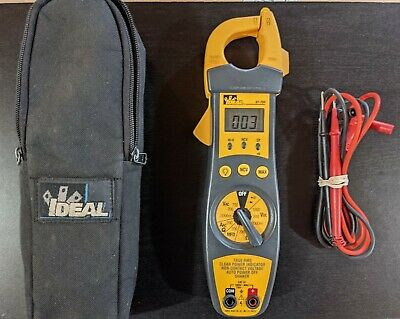 Ideal Industries 61-704 True Rms Trms 4-in-1 Tester Clamp Meter W Leads Case