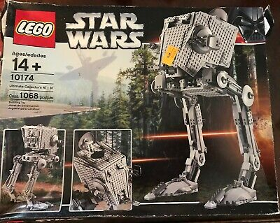 INCOMPLETE AS IS LEGO Star Wars Imperial AT-ST 2006 set # 10174 w/ Box 1 Figure