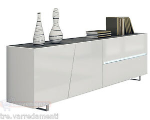 Détails sur Madia Buffet Cooper Credenza Moderna Bianca in Kit di ...