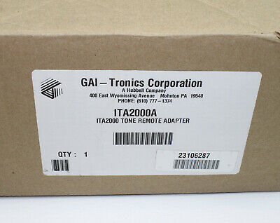Gai-tronics Ita2000a Tone Remote Adapter New