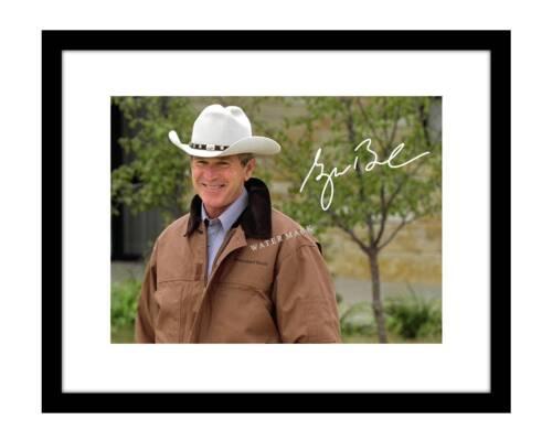 George W. Bush 8x10 Signed Photo Print Cowboy Hat US President autographed GOP