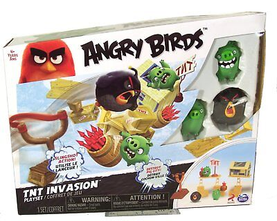 Angry Birds TNT Invasion Blitz Playset Build Destroy Pig City Collectible Figure