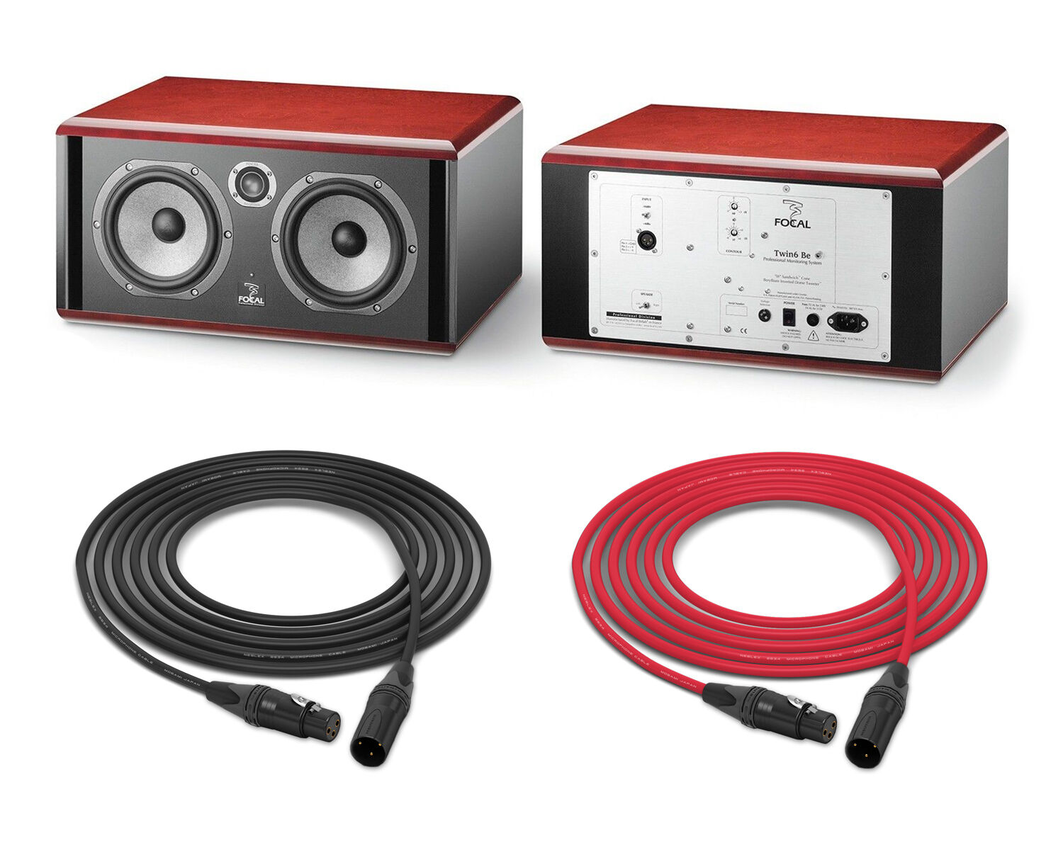 Focal Twin6 Be Studio Monitors   Stereo Pair in Red   Pro Au