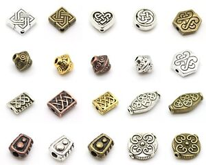 Celtic-Antique-Style-Beads-Many-Shapes-Tibetan-Silver-Alloy