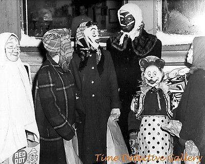 Vintage Halloween Trick Or Treaters (Halloween Trick-or-Treaters - 1954 - Vintage Photo)