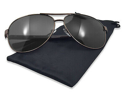 Misqo Classic Aviator Dark Half Transparent Lens Sunglasses Plastic Metal -