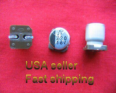 4pc 220uf 16v Smd Nichicon Electrolytic Free Shipping