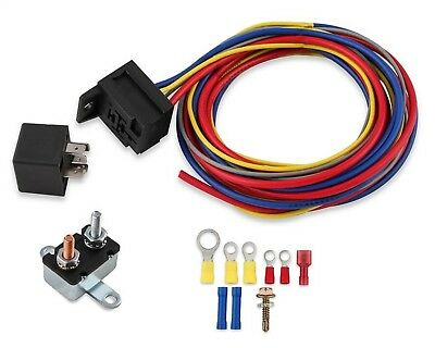 Mr. Gasket 40210G Electric fan fuel pump Water Pump Harness and Relay Wiring Kit