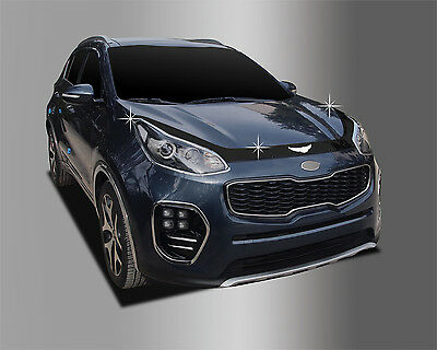 Bonnet Hood Guard Acrylic Molding Black Deflector D597 for KIA Sportage2017~2020
