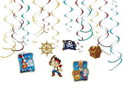 12 PC JAKE AND THE NEVER LAND PIRATES SWIRL DECORATIONS Birthday Party Supplies (Jake The Neverland Pirate Party Supplies)
