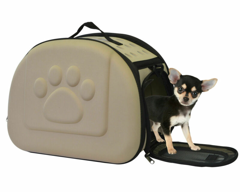 Portable Pet Carrier Airline Approved Hard Shell Sided Comfort Cat Dog Tote Bag