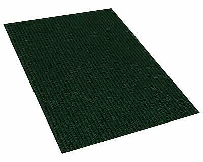 Green Indoor/Outdoor Area Rug Carpet with a Rubber Backing 1/4