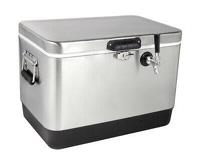 Kegco Jb50-ss-1 50 Liter Single Tap Stainless Steel Jockey Box With 120 Coil