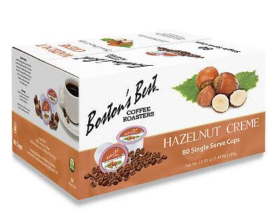 Boston's Best Single Serve K-Cup Coffee, Hazelnut Crème, 80 Count (Best Single Serve Coffee)