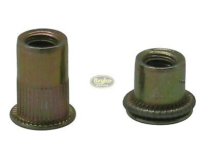 Threaded Insert Metric Rivet Nuts M8 50 Pack Steel Blind Nut Fasteners