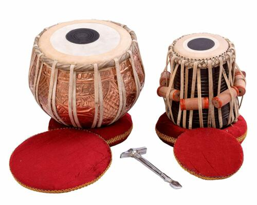 Tabla Drum Set by SAI Musicals, Professional, 2.5 Kg Copper Bayan - Designer Ca