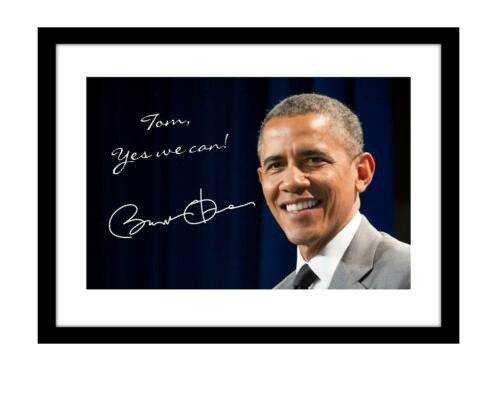 Barack Obama 5x7 Signed photo print customized to YOUR NAME president demcrat