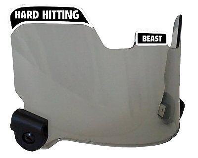 Elitetek Football Visor Eye Shield Hard Hitting No Quitting (Smoke Tint)