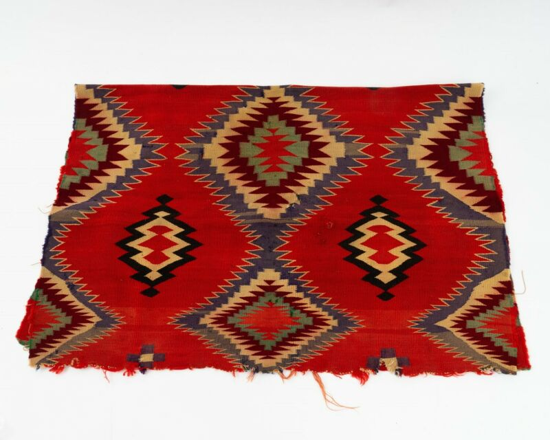 Beautiful Antique Navajo Germantown Panel Saddle Child