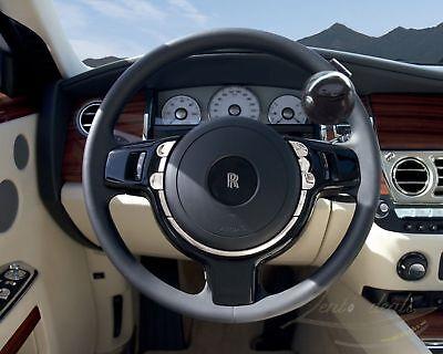 Zento Deals Black Automobile Steering Wheel Spinner Suicide Knob