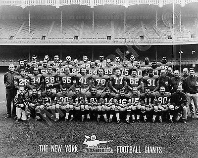 1959 NEW YORK GIANTS NFL FOOTBALL TEAM 8X10 PHOTO