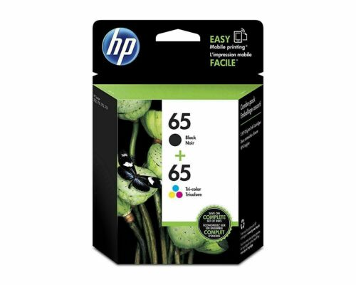 2 Packs For HP 65 Black & Tri-color Original Ink Cartridges