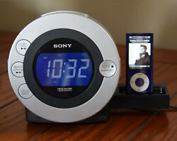 Sony ICF-CD3iP Dream Machine CR-R/RW Player FM/AM CD Alarm Clock Radio iPod Dock