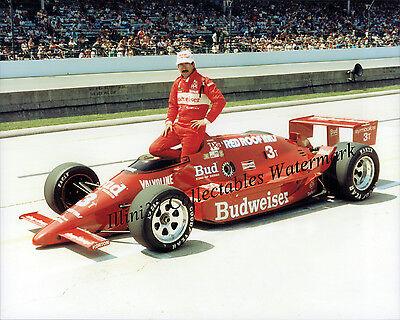 BOBBY RAHAL 1986 INDY 500 WINNER AUTO RACING 8X10 PHOTO