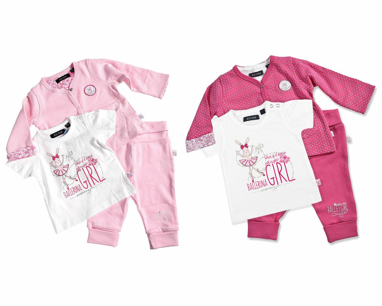 BLUE SEVEN ♥ Baby Mädchen Set mit Jacke/Shirt/Hose pink oder rosa Gr. 56 62 68