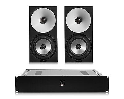 Amphion One15 Passive 2-Way Monitor Speakers (Pair) w/ Amp100 Stereo Amplifier 2 Way Passive Studio Monitor