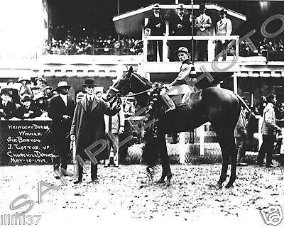 SIR BARTON 1919 1ST TRIPLE CROWN WINNER HORSE KENTUCKY DERBY LOFTUS 8X10 PHOTO