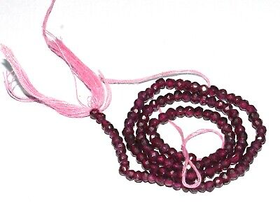"""10"""" LONG Natural MOZAMBIQ Garnet Gemstone rondelle Faceted Loose Jewelry Beads"""