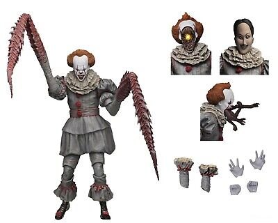 IT - 7� Scale Action Figure - Ultimate Pennywise The Dancing Clown (2017) - NECA
