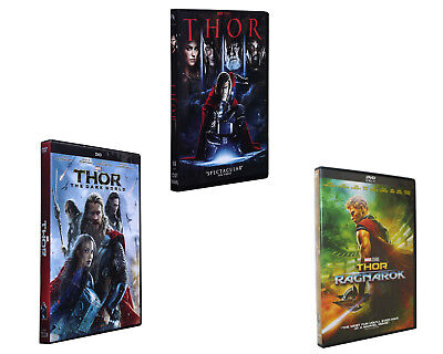 Thor Trilogy Dvd Bundle Includes Thor  The Dark World  And Ragnarok Combo New