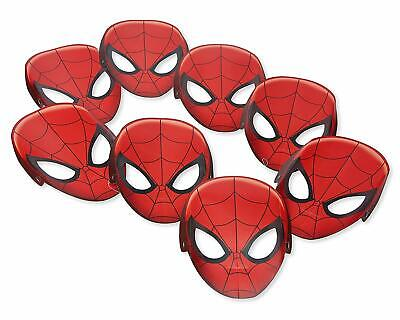 Marvel Birthday Party Supplies (Marvel Spider-man Hats/ Masks, 8 Count, Birthday mask Party Supplies)