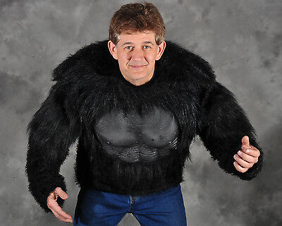 Gorilla Shirt Great Ape Hairy Chest Planet of the Apes Adult Halloween (Kostüme Gorilla Shirt)