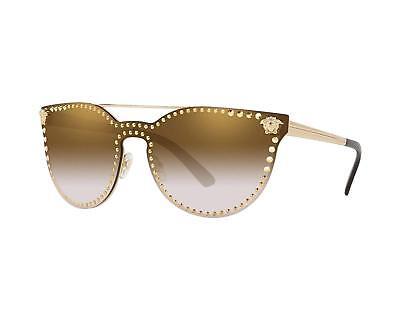 Versace VE2177 1252/6U CatEye Sunglasses Pale Gold / Flash Oro (Versace Sunglasses Men Cheap)