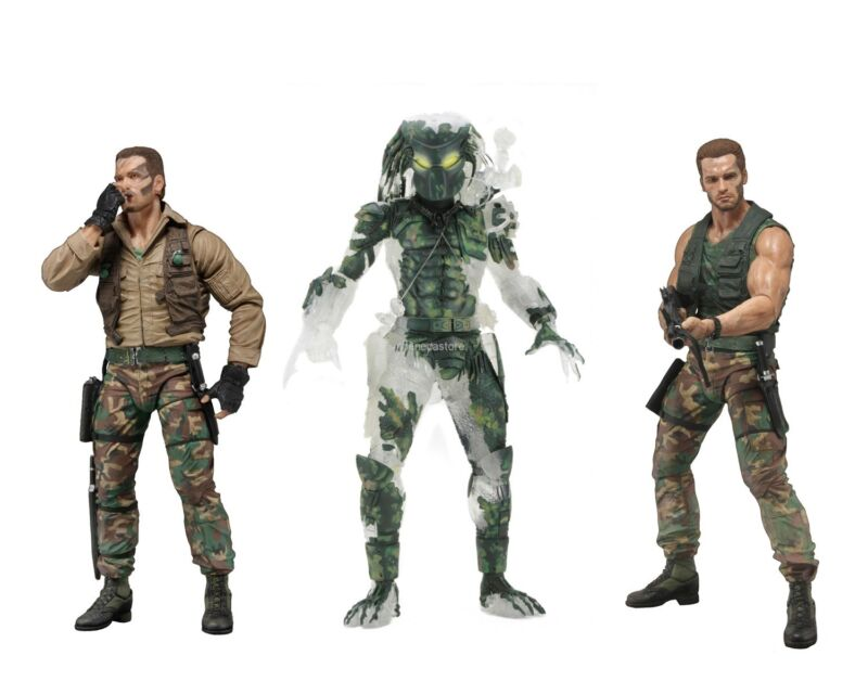 "Predator 7"" Scale Figure Bundle - Extraction Dutch, Patrol Dutch & Jungle Demon"