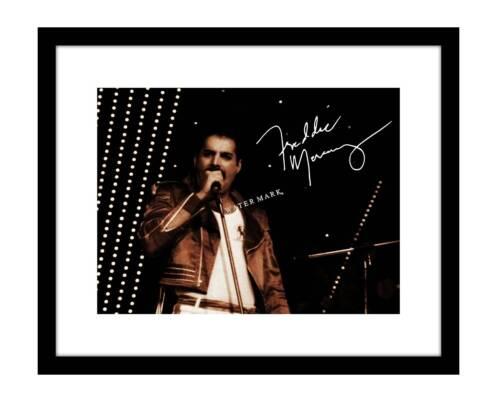 Freddie Mercury 8x10 Signed Photo print Queen band concert bohemian