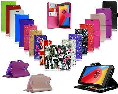 For Motorola Moto C Plus New Genuine Stylish Luxury Leather Wallet Phone Case