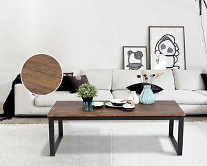 Rustic Coffee Table Furniture Industrial Wood Black Brown Metal Cocktail Dark & Rustic Coffee Table   eBay